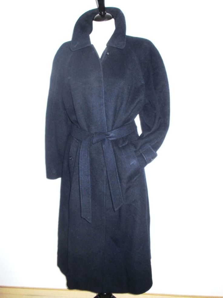 * * * BURBERRY Kamelhaar-Mantel dunkelblau, Gr.14/D 40 * * * | eBay