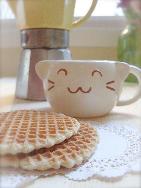 Tasty Dutch treats and a cute kitty cup