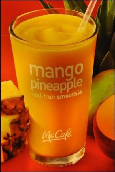 Pineapple Mango Smoothie • 6 ounces of any flavor yogurt • 1 cup mango chunks • ¼ cup pineapple juice • 1 �