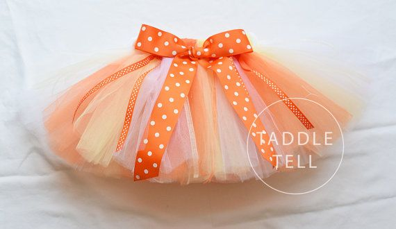 CANDY CORN Ribbon Tutu - Sizes Newborn to 5T