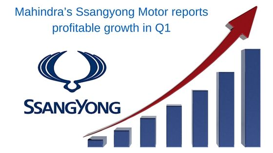 Mahindra's Ssangyong Motor reports profitable growth in Q1 Mahindra's owned South Korean manufacturing company, Ssangyong Motor has reported the profitable growth in the first quarter of this year. The company has sold 33,666 units of vehicles in the global market, 22,622 from the domestic market and 11,044 units from exports.