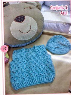 Receita de Crochê Infantil: Colete para menino em crochê