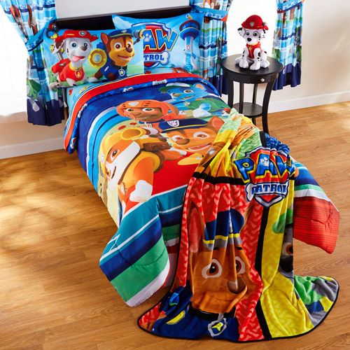 Paw Patrol to the rescue! New line of bedding added to my collection, including a comforter, sheets and blankets.