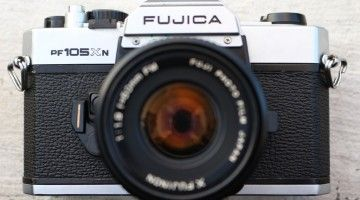 The Fujica MPF105XN is a 35mm SLR made in Japan by Fuji, from 1982. It has TTL metering, displaying as one green and two red LEDs in the viewfinder - replacing the meter needle of the 1978 MPF105X. The interchangeable lenses were mounted with Fuji's X-bayonet. Shutter speeds 1/2 to 1/700. The Fujica MPF105XN is essentially the same camera as the STX-1N.  read more review http://goo.gl/Tu3J2p