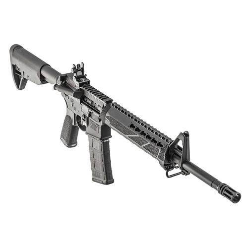 "Springfield Armory Saint AR-15 Semi-Auto Rifle 5.56x45mm 16"" Barrel 30 Rounds - ST916556B  Springfield Saint 5.56mm AR-15 Rifle for sale online at a great discount price with free shipping included only at our online store TargetSportsUSA.com. Target Sports USA has the entire line of Springfield guns for sale including this brand new Saint AR15 rifle."