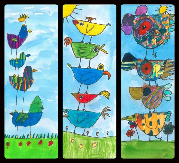 I 1. klasse har vi brugt en del af året på formalfabetet, at disponere papiret,vandfarver, farveblyanter og Neocolor. Nu var det på tide at eleverne skulle sætte deres nye viden i spil og selv træ…