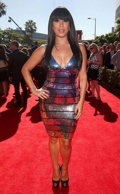 Cheryl Burke sexy silver dress ESPYs
