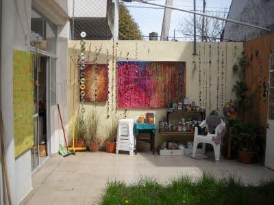 Mis cuadros para exteriores,  dandole vida a una pared muerta