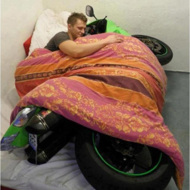 Motorcycle Love #motorcycle #love #cuddle #lover #meme #humor #salvage #vehicle