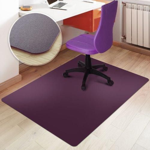 "Office Marshal Office Chair Mat - Purple - Hard Floor Protection 30"" x 48"" Rectangular"