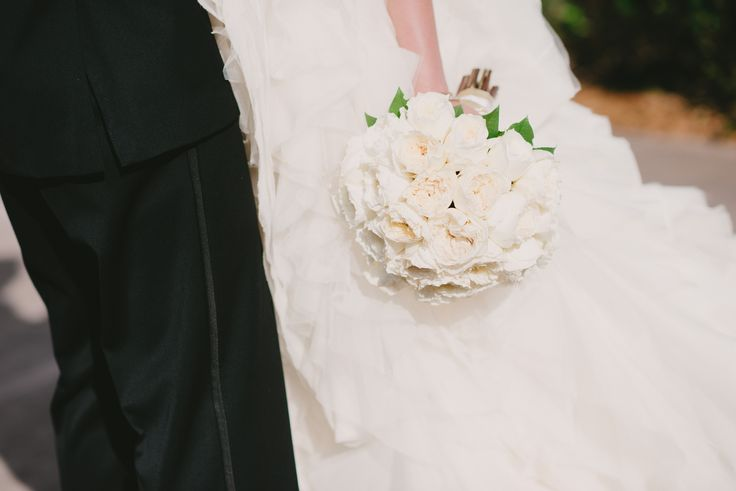 All White Garden Rose Bouquet At The Coral Gables Country