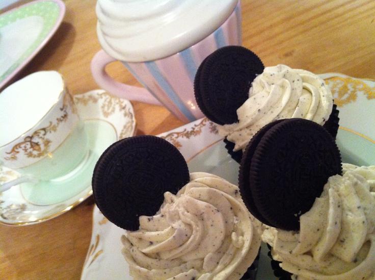 Oreo cupcakes, yum!