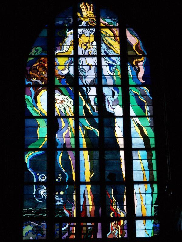 Description: Kraków (Cracow), Poland: Franciscan Church: stained glass Father the God (1897-1902, Stanisław Wyspiański)