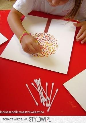 dot art - cue tips and paint