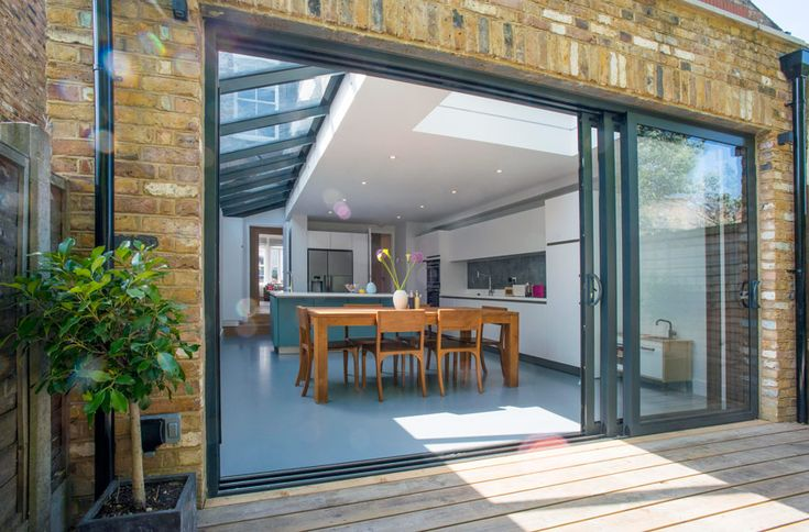Side Return Extension On A Victorian Terraced House Side
