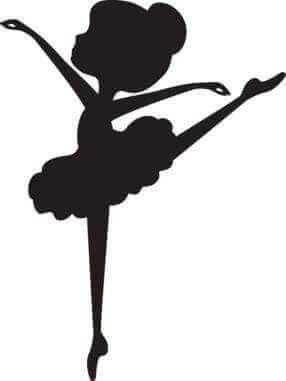 Výsledok vyhľadávania obrázkov pre dopyt siluetas de niñas bailarinas de ballet clasico