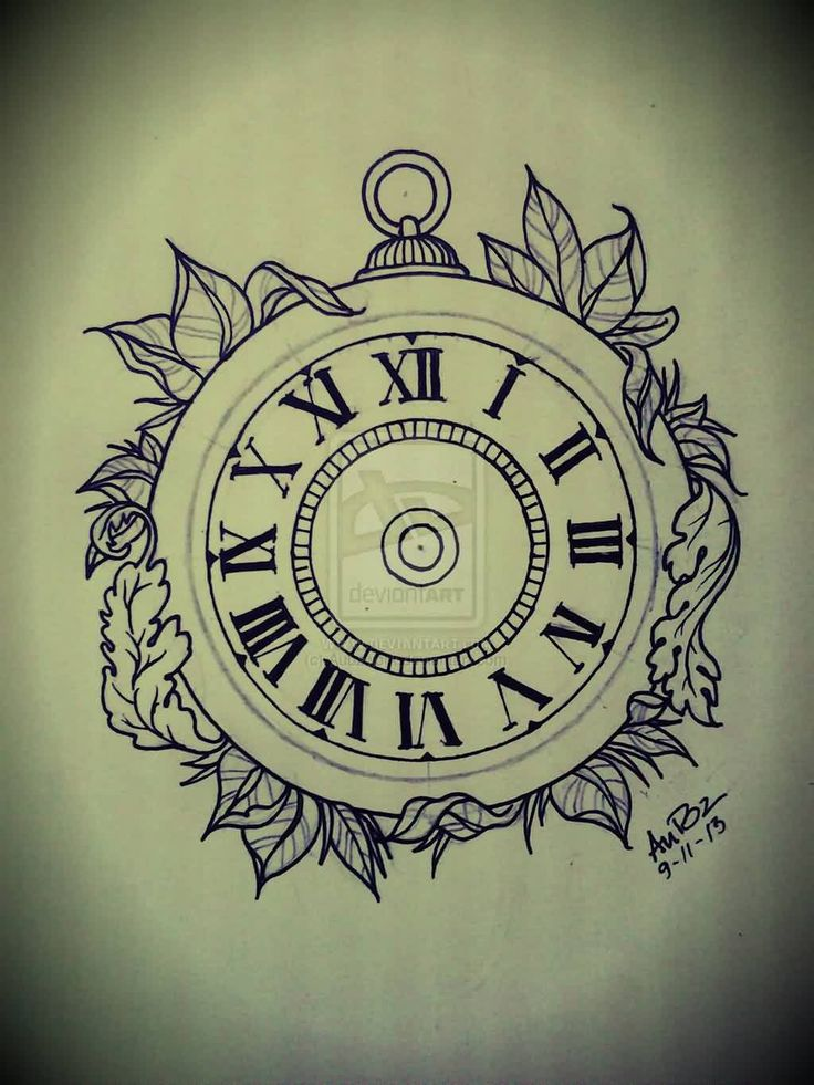 9 best Clock Tattoo Drawings images on Pinterest | Tattoo ...