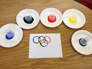 Olympic ring craft for kids - so easy and so effective.
