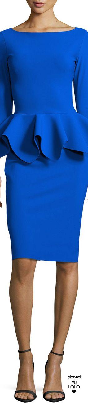 La Petite Robe di Chiara Boni 3/4-Sleeve Peplum Dress | LOLO❤