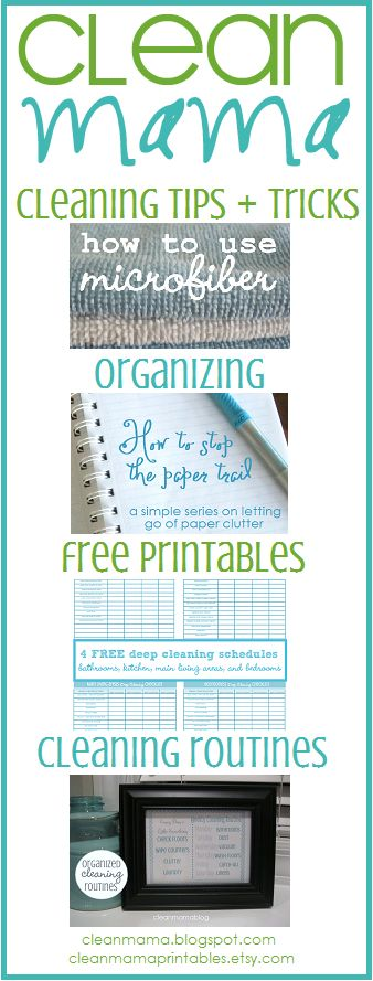 This is the BEST blog for organization and cleaning tips! So many great ideas. I love her free printables!