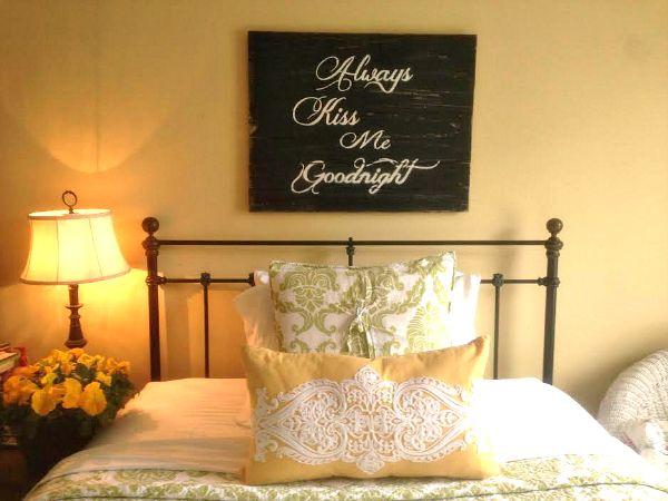 Custom Barnwood Frames - WOOD SIGNBOARD - ALWAYS KISS ME GOODNIGHT (BLACK/WHITE), $35.00 (http://www.custombarnwoodframing.com/products/wood-signboard-always-kiss-me-goodnight-black-white.html)