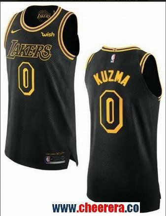 587dc6727 Men s Nike Los Angeles Lakers  0 Kyle Kuzma Black NBA Jersey