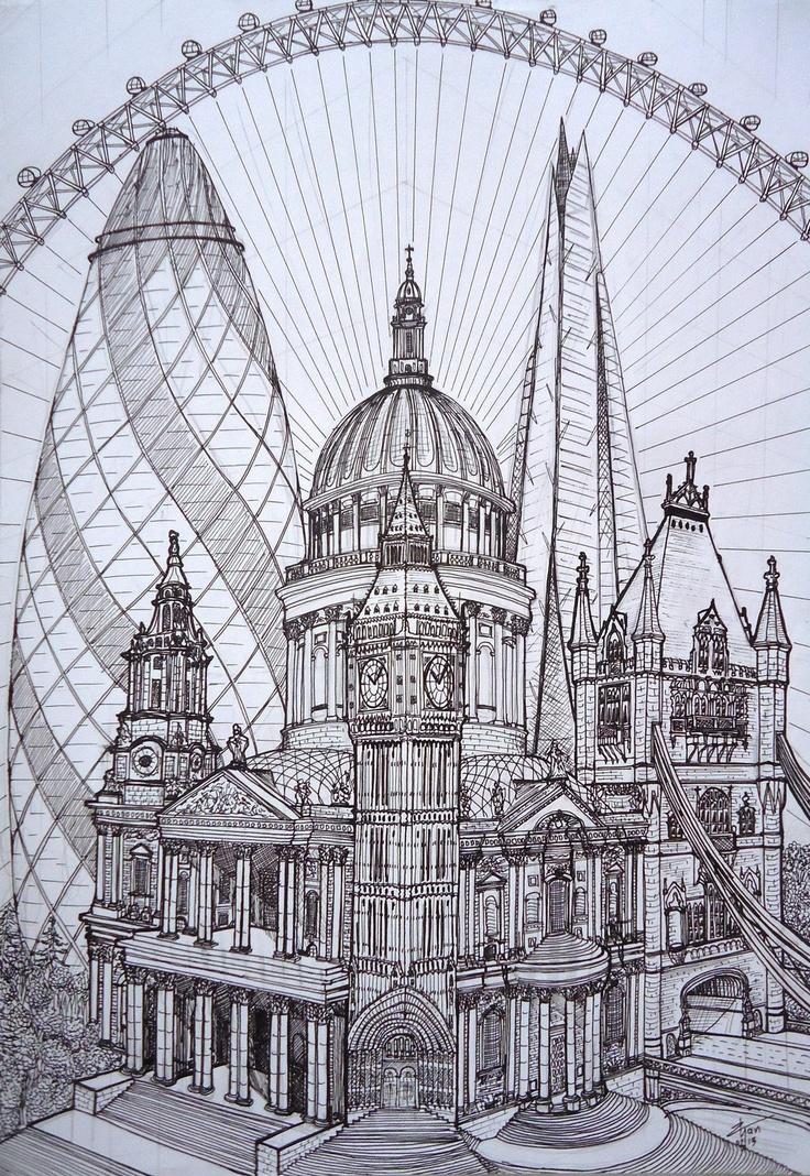 London Cucumber St. Paul's Big Ben Tower of London The Shard