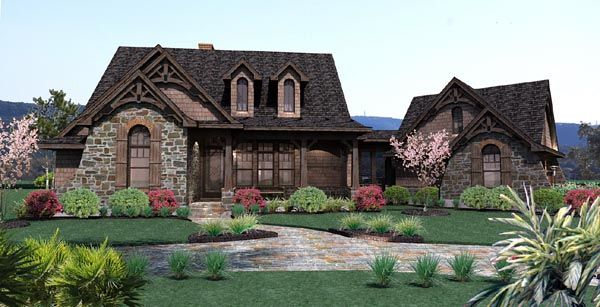 House Plan 65866 | Cottage Ranch Traditional Plan with 1698 Sq. Ft., 3 Bedrooms, 3 Bathrooms, 2 Car Garage at family home plans