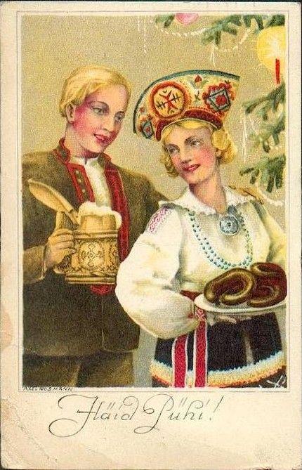 Воздушный, советские открытки эстония