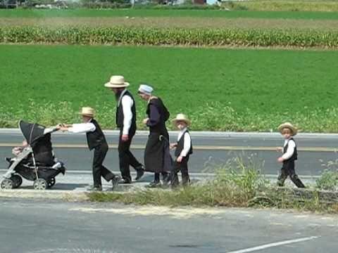 Amish Family Bird-in-Hand Pennsylvania - YouTube