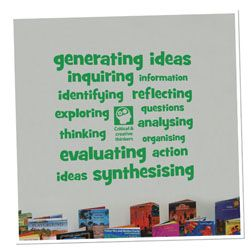 Critical & Creative Thinking Vinyl Lettering Word Wall