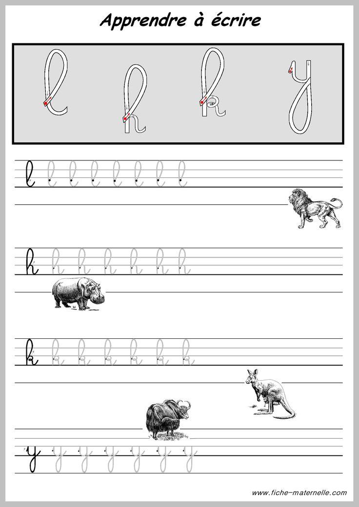 Exercices pour apprendre a ecrire les lettres scuola - Alphabet francais maternelle ...