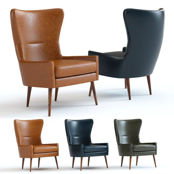 West Elm Erik Leather Wing Chair Leather Wing Chair Wing