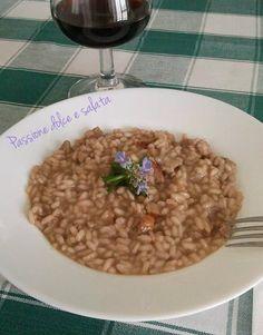 Risotto ubriaco con salsiccia http://blog.giallozafferano.it/passioneperilcibo/risotto-ubriaco-con-salsiccia/
