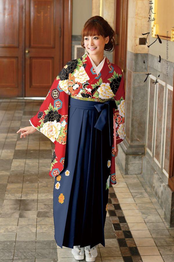 古典柄袴 赤色 古典系袴 Style 卒業式の袴Styleは女の子の特別な1日!友達と差をつける!!