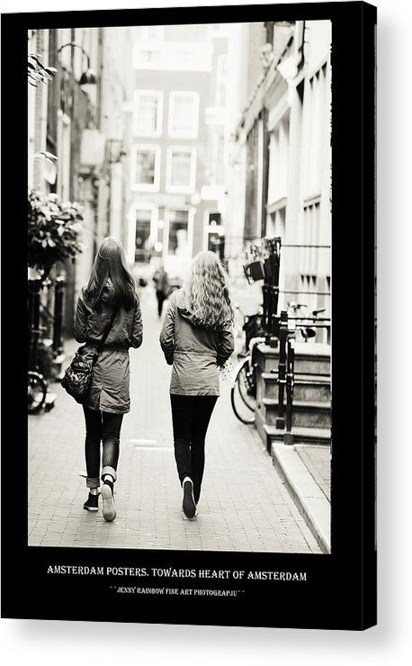 Amsterdam Posters. Towards Heart Of Amsterdam Acrylic Print by Jenny Rainbow.  All acrylic prints are professionally printed, packaged, and shipped within 3 - 4 business days and delivered ready-to-hang on your wall. Choose from multiple sizes and mounting options.