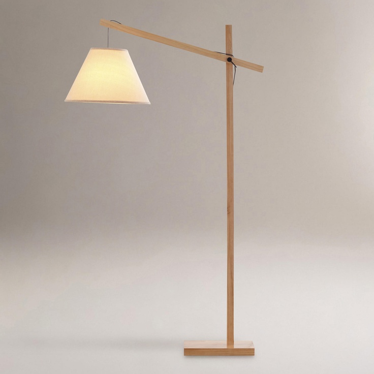 Hayes Wooden Floor Lamp | World Market // Omg Swooooooon