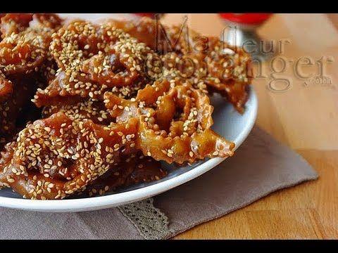 Recette de chebakia : gâteaux au miel   / Moroccan Sesame Cookies with H...