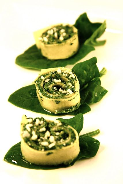 Spinach Rolls With Ricotta & Pistachios