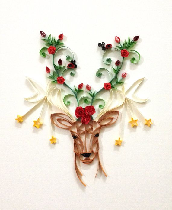 "Paper quilling ""Oh, deer!"""