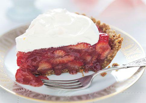 Strawberry Icebox Pie with Almond Crust http://www.bonappetit.com ...