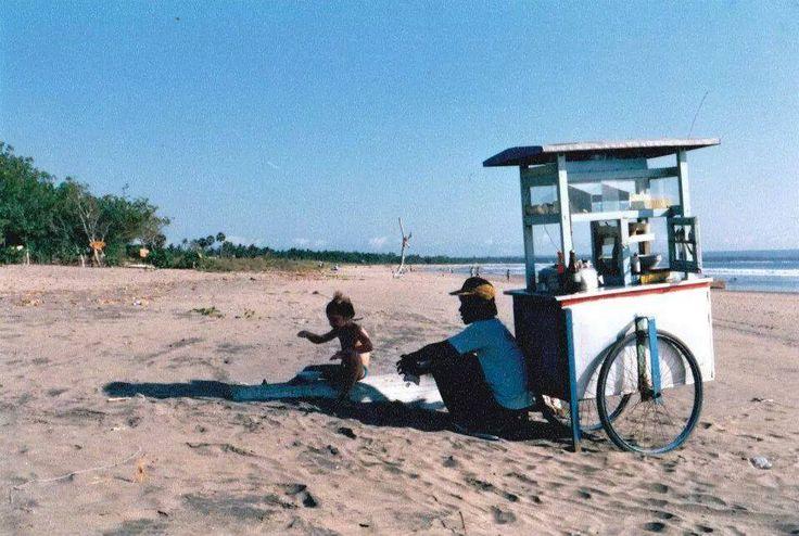 Bakso cart on Legian Beach 1990