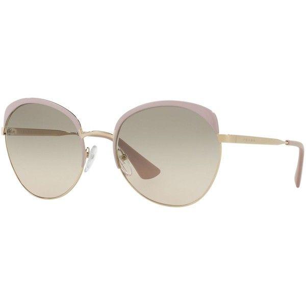 Prada Sunglasses, Pr 54SS ($305) ❤ liked on Polyvore featuring accessories, eyewear, sunglasses, prada, prada glasses, prada eyewear and prada sunglasses