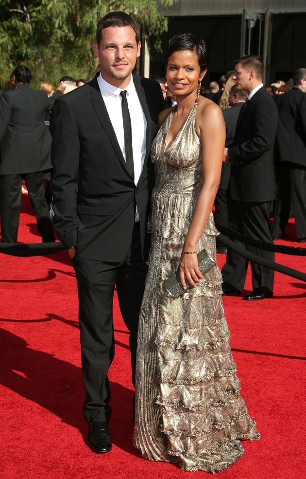 Justin Chambers Wife   Justin Chambers Walks His Wife Down the Red Carpet at the 59th Annual ...