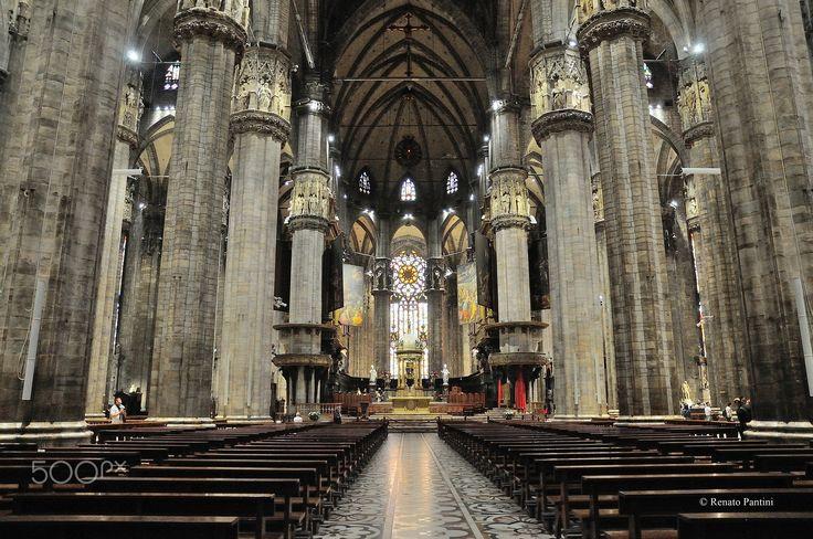Inside Milan Cathedral... - Taken inside of Duomo di Milano (Milan Cathedral) (June 2016)