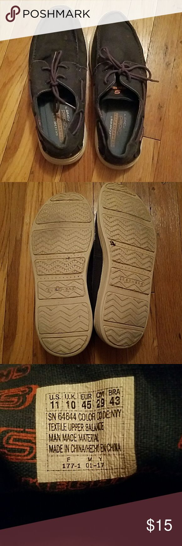 Skechers Men shoes Men's Skechers shoes. These shoes are good to wear with a nice pair of pants or shorts/jeans. Have been worn a few times but in great condition. Add to a bundle Skechers Shoes