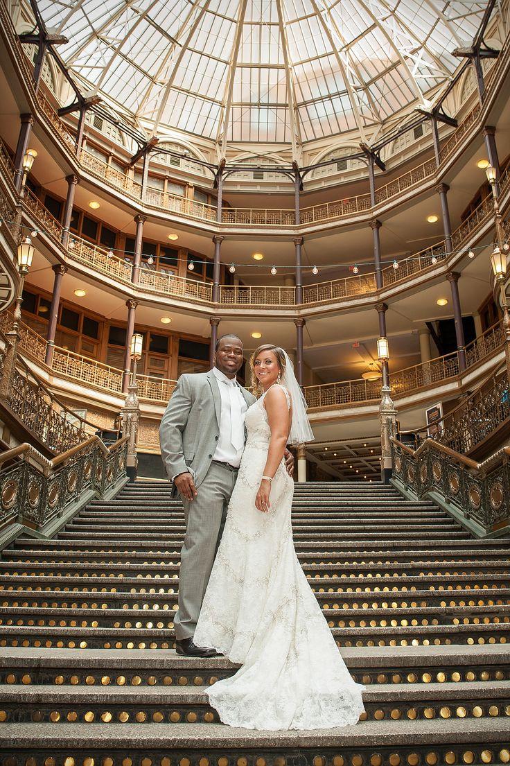 outdoor weddings near akron ohio%0A Pretty wedding at the Hyatt Regency at the Arcade  Cleveland