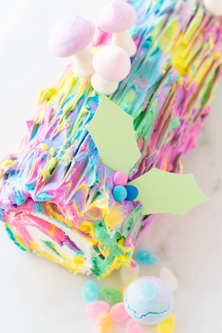 Tie Dye Yule Log | studiodiy.com