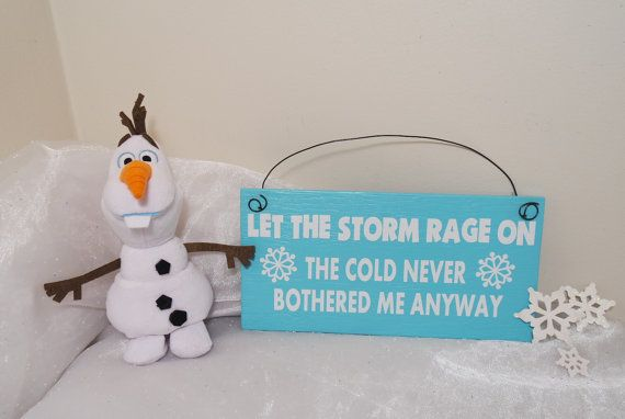 The Cold Never Bothered Me Anyway  Elsa Sign by CraftyWitchesDecor
