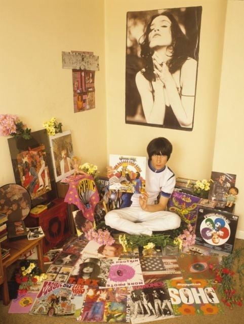Bobby Gillespie in his room